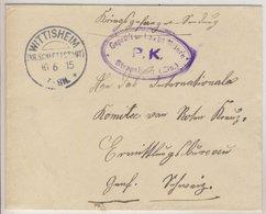 DR - Wittisheim (Kr. Schlettstadt) 1915 KOS Kriegsgefangenenbrief I.d. SCHWEIZ - Allemagne