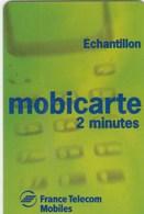 MOBICARTE  ECHANTILLON 2 MINUTES - France