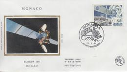Enveloppe  FDC  1er  Jour   MONACO    EUROPA    1991 - 1991