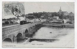 GRAY EN 1906 - VUE GENERALE AVEC TRAIN - BEAU CACHET - CPA VOYAGEE - Gray