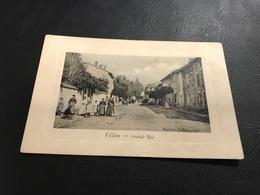 VILLIEU Grande Rue - 1914 - Cadre En Creux - Autres Communes