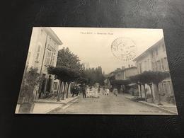 VILLIEU Grande Rue - 1914 Timbrée - Autres Communes