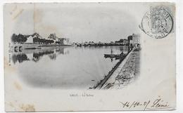 GRAY EN 1903 - LA SAONE - BEAU CACHET - CPA VOYAGEE - Gray