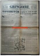 1941 Journal GRINGOIRE - COLLABORATION - LETTRE DE STALINE À CHURCHILL - DESSIN DE CARB - Documents Historiques