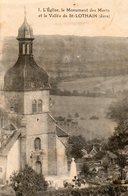 39. CPA. SAINT LOTHAIN. église, Monument Aux Morts, Vallée.  1930. - France