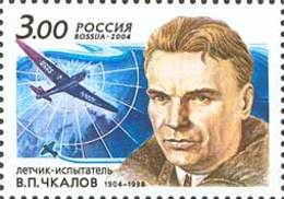 Russia 2004 The 100th Anniversary Of The Birth Of V.P.Chkalov. MNH - Unused Stamps