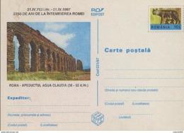 AQUEDUC ,,Aqua Claudia''( 38-52 D.Hr)- ROME, Louve Du Capitole   Entier Postal ( Carte Postale) - Roumanie / Romania - Mitologia