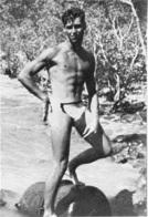 PHOTO HOMME EN MAILLOT DE BAIN CULTURISME CULTURISTE 12.50 X 9 CM - Sports