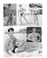 PHOTO HOMME EN MAILLOT DE BAIN CULTURISME CULTURISTE  PHOTO FERRERO 25 X 21 CM - Sport