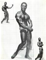 PHOTO HOMME EN MAILLOT DE BAIN CULTURISME CULTURISTE 28 X 22.50 CM - Sports