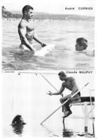 PHOTO HOMME EN MAILLOT DE BAIN CULTURISME CULTURISTE  A. CURNIER ET C. MAUPUY  28 X 20 CM - Sport
