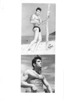 PHOTO HOMME EN MAILLOT DE BAIN CULTURISME CULTURISTE  PHOTO FERRERO  25 X 16 CM - Sport