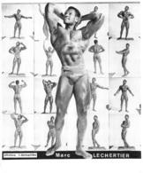 PHOTO HOMME EN MAILLOT DE BAIN CULTURISME CULTURISTE  MARC LECHERTIER  26 X 21 CM - Sports