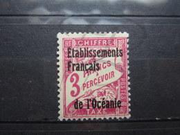 VEND BEAU TIMBRE TAXE D ' OCEANIE N° 9 , (X) !!! - Océanie (Établissement De L') (1892-1958)