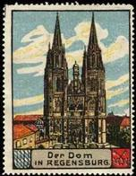 Regensburg: Der Dom In Regensburg Reklamemarke - Cinderellas