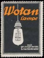 Berlin: Wotan Lampe Reklamemarke - Cinderellas