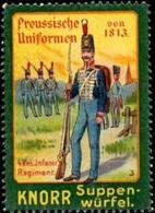 Heilbronn / Neckar: Uniform 4. Reserve Infanterie Regiment - Knorr Suppe Reklamemarke - Cinderellas
