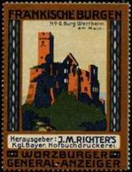 Würzburg: Burg Wertheim Am Main Reklamemarke - Cinderellas