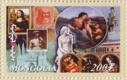 Leonardo Da Vinci, Mona Lisa, David By Michelangelo Religious Painting MNH Mongolia - Arte