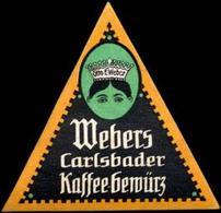 Radebeul, Dresden: Otto E. Weber - Webers Carlsbader Kaffee - Gewürz Reklamemarke - Cinderellas