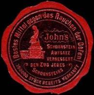 J.A. John AG: Johns Schornstein Aufsatz Reklamemarke - Erinnofilie