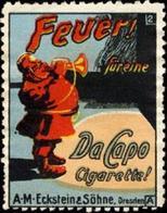 Dresden: Feuerwehr-Mann - Zigaretten Reklamemarke - Cinderellas
