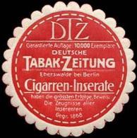 Eberswalde: Deutsche Tabak-Zeitung Reklamemarke - Erinnophilie