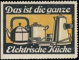 Elektrische Küche Reklamemarke - Cinderellas