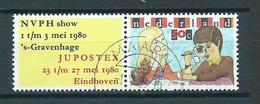 1980 Netherlands Philately+tab Used/gebruikt/oblitere - Periodo 1980 - ... (Beatrix)