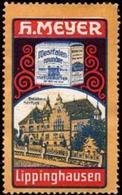 Lippinghausen: Kreishaus Herford - Naturbutter Reklamemarke - Erinnophilie