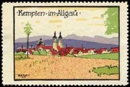 Kempten: Kempten Im Allgäu In Bayern Reklamemarke - Cinderellas