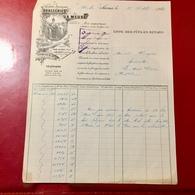 Facture ---------  Brasserie  De   La.  Meuse  1920 - France