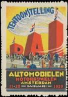 Amsterdam: Auto Ausstellung Reklamemarke - Cinderellas