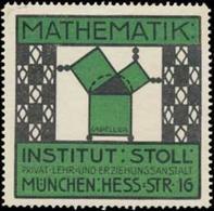 München: Mathematik Am Institut Reklamemarke - Erinnophilie