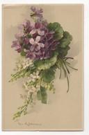 C Klein Bunch Of Violets & White Spray Fauklner 1078B Vintage Art Postcard - Klein, Catharina