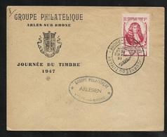 FDC Lettre Illustrée Premier Jour Arles Le 15/03/1947 Le N°779   Cachet Illustré Journée Du Timbre 1947  B/TB - ....-1949