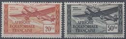 France, A.E.F Afrique Equatoriale Française : Poste Aérienne N° 40 Et 41 X Neuf Avec Trace De Charnière Année 1943 - Unused Stamps