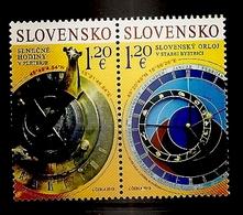 SLOVENIA 2019,SUNDIAL,ASTRONOMICAL CLOCK,SONNEN UHR,JOINT ISSUSE SLOVENIA-SLOVAKIA,MNH - Slovénie