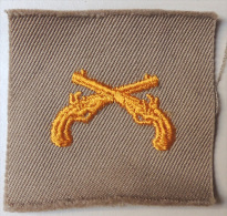 USA - Authentique Collar Patch Military Police Corps / Sand Color - Années 50/60 - Ecussons Tissu