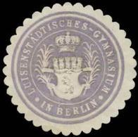 Berlin: Luisenstädtisches Gymnasium Reklamemarke - Cinderellas