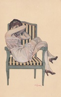 Illustrateur - A. JARACH - Rue De La Paix ( Femme En Déshabillé ) - Illustrators & Photographers