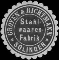 Solingen: Stahlwaarenfabrik Groyen & Richtmann Reklamemarke - Cinderellas