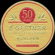 München: 50 Jahre E. Gärtner Etiketten-Fabrik Reklamemarke - Cinderellas