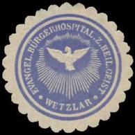 Wetzlar: Evangel. Bürgerhospital Zum Heiligen Geist Siegelmarke - Cinderellas