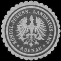Adenau: K.Pr. Landraths-Amt Adenau Siegelmarke - Erinnofilia