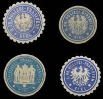 Polizei Kiel Sammlung Siegelmarken - Cinderellas