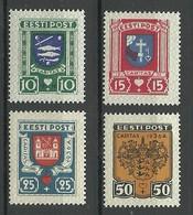 Estland Estonia 1936 Caritas Michel 109 - 112 * - Estland