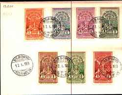 91860) Etiopia 1930 LETTERA CON SERIE COMPLETA Scott 210-16 Haile Selassie Incoronazione Monument - Etiopia