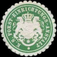 Dresden: K.S. Forst-Einrichtungs-Anstalt Siegelmarke - Cinderellas