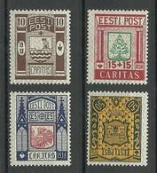 Estland Estonia 1938 Caritas Michel 131 - 134 * - Estland